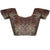 Deep Neck Kalamkari Shimmer Readymade Blouse