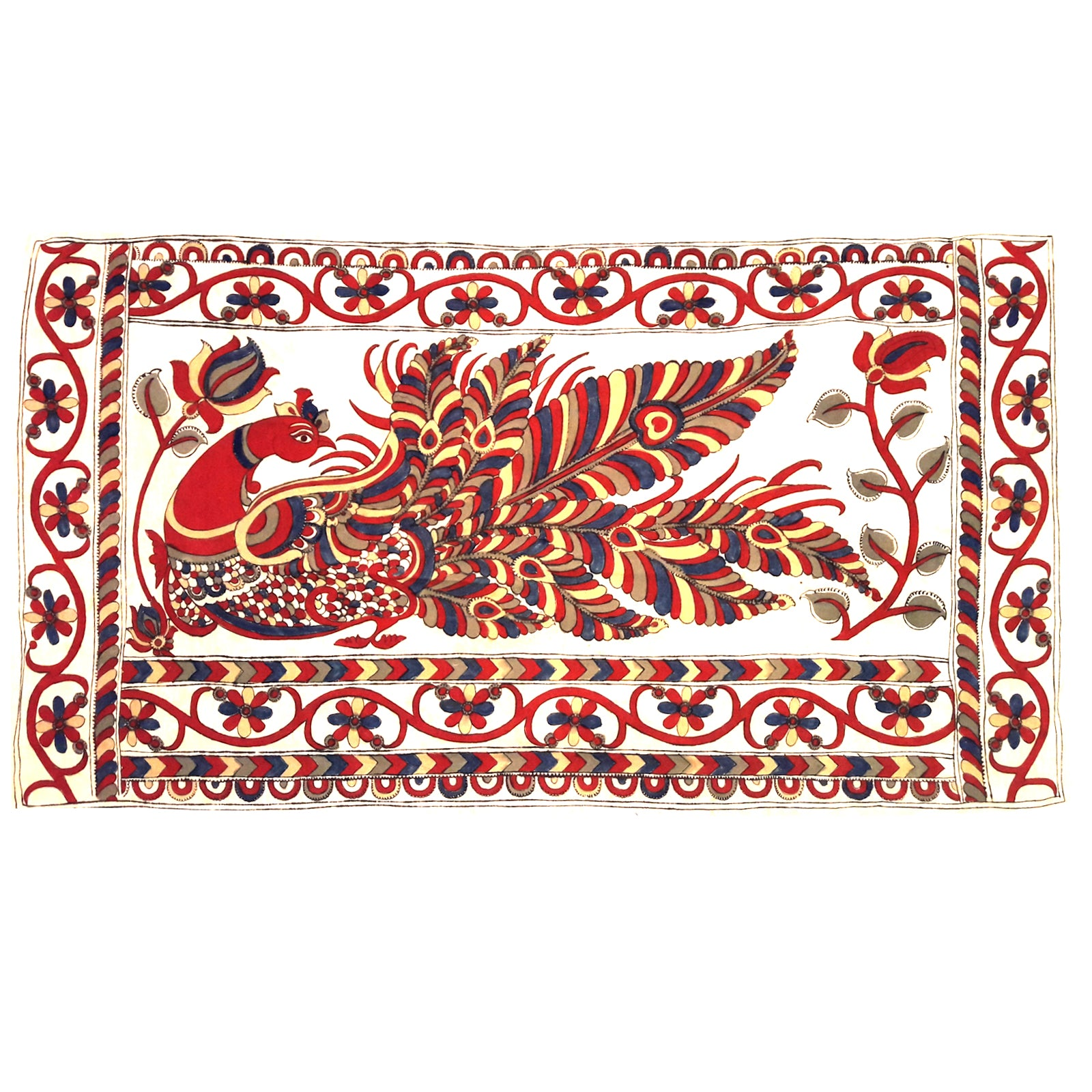 Pen Kalamkari Pallu Butties