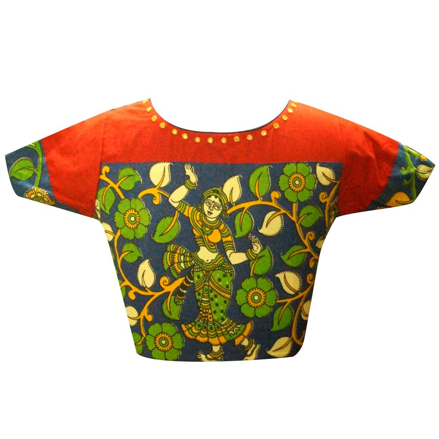 Boat Neck Readymade Blouse