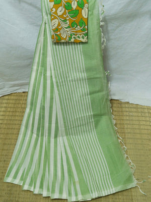 Mangalagiri Stripes Saree
