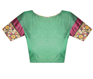 Boat Neck Chettinad Readymade Blouse