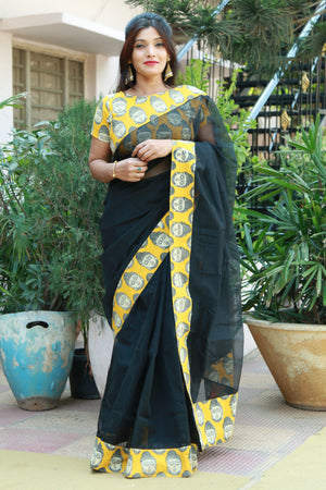 Supernet Patch Work Saree