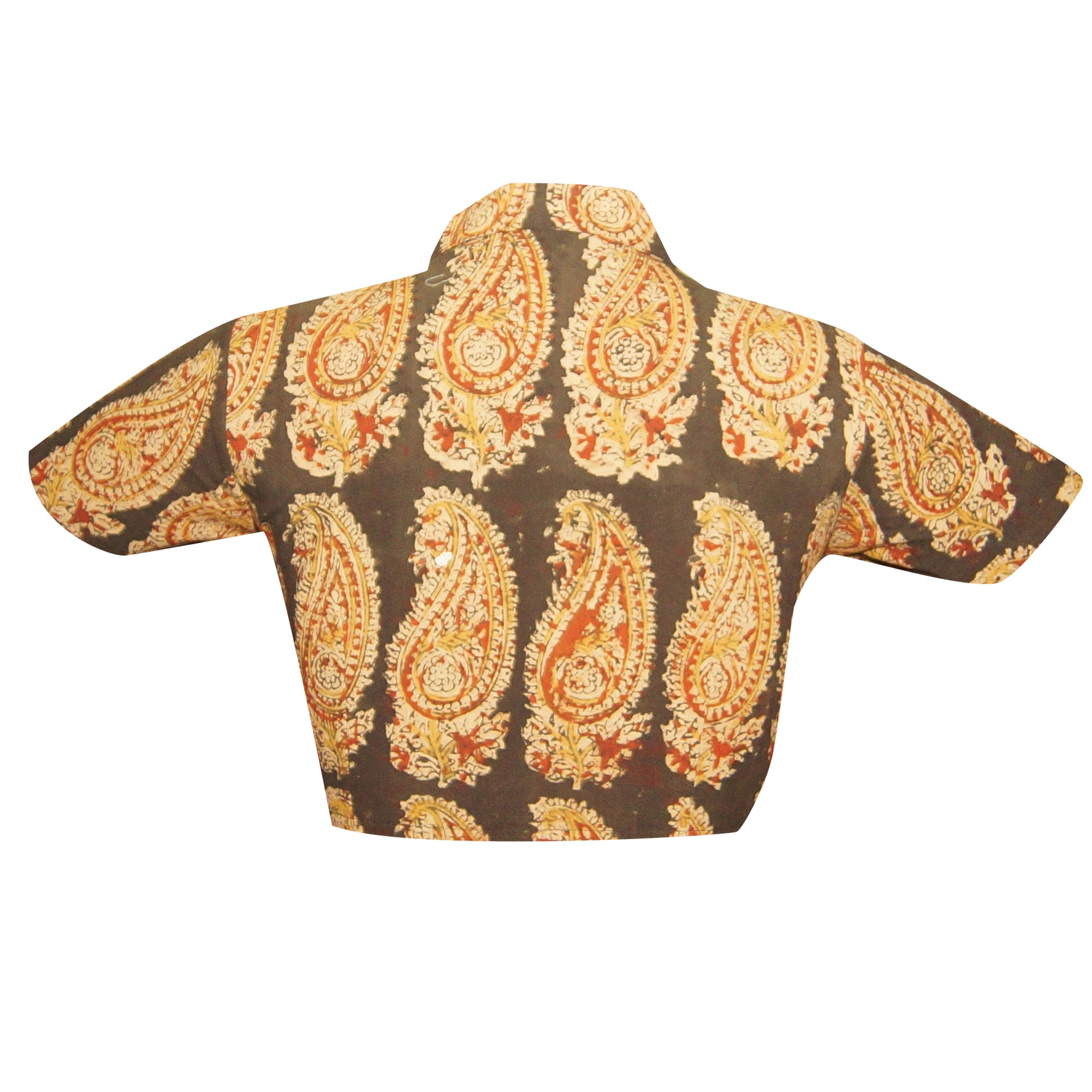 Collar Neck Block Kalamkari Readymade Blouse