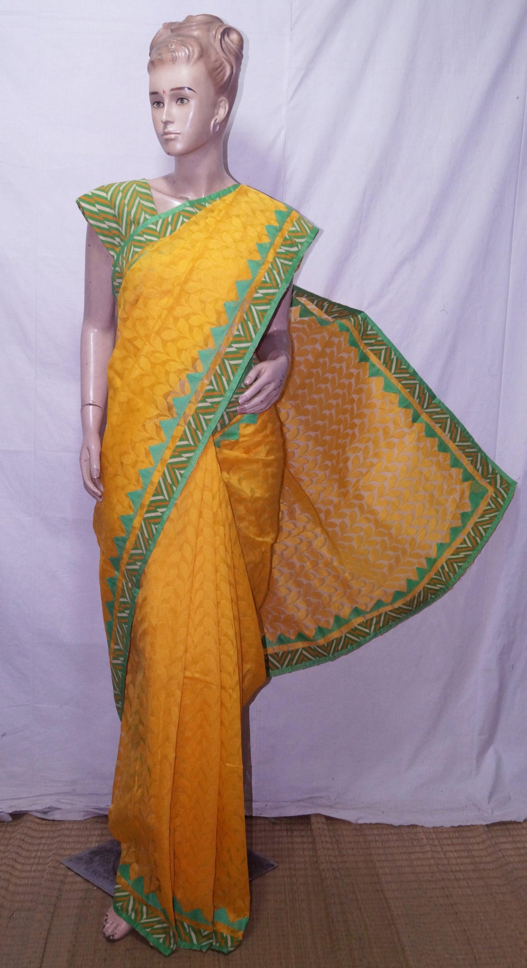 Self Weaved Net Saree