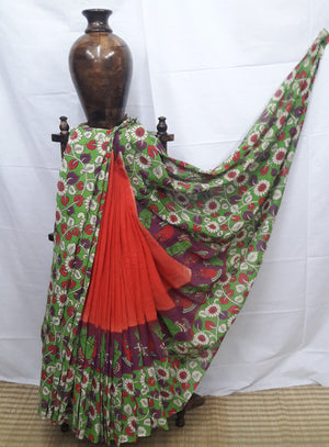 Mul Kalamkari Cotton Saree