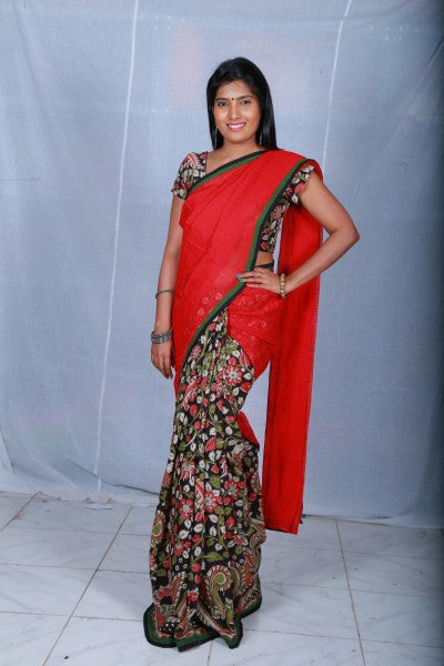 Missing Checks Khadi Saree