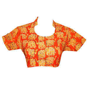 Collar Neck Kalahasthi Readymade Blouse