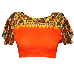 Boat Neck South Cotton Readymade Blouse