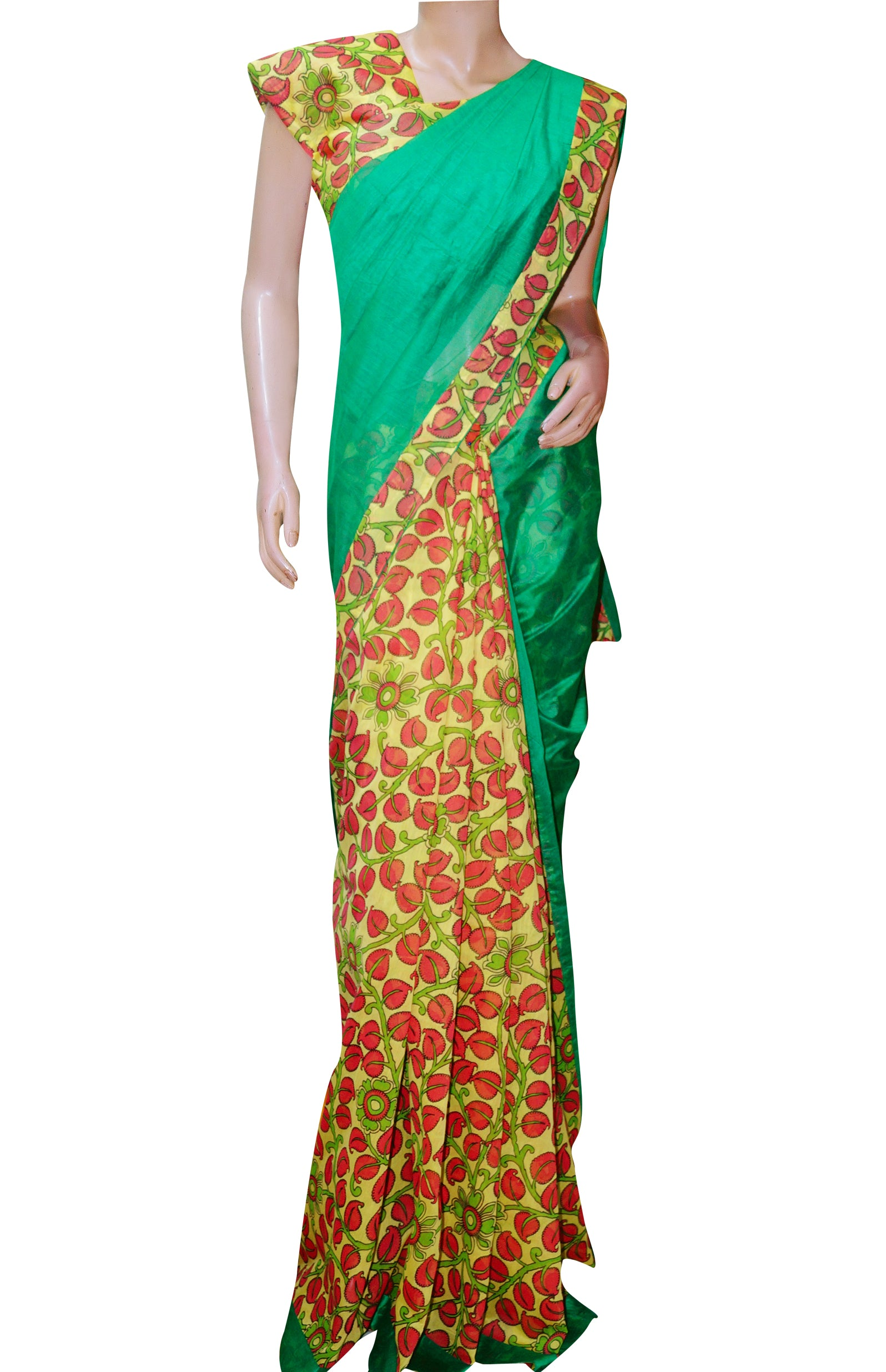 Chanderi Patch Work Saree