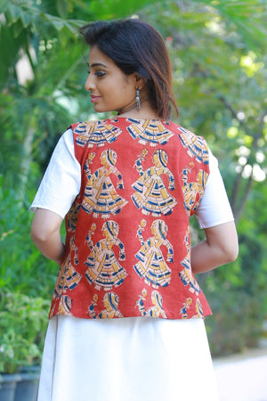 Two way Kalamkari Jacket