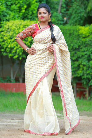 Banaras Patch work Saree