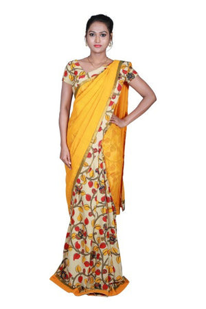 Mangalagiri Missing Checks Designer Sarees