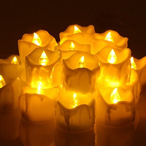 LED Tea Lights Candle with Timer, OMGAI