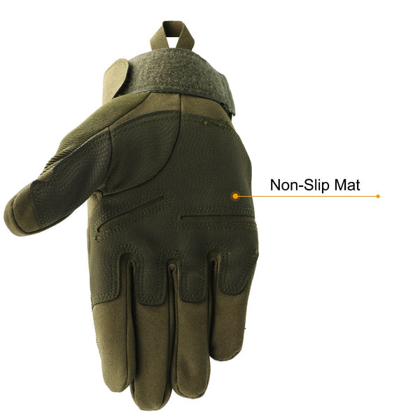 Men's Full Finger Gloves Motorcycle Outdoor Sports Light Cycling Gloves, OMGAI