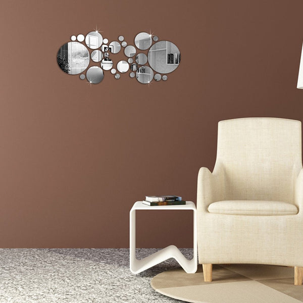Mirror setting wall sticker , OMGAI