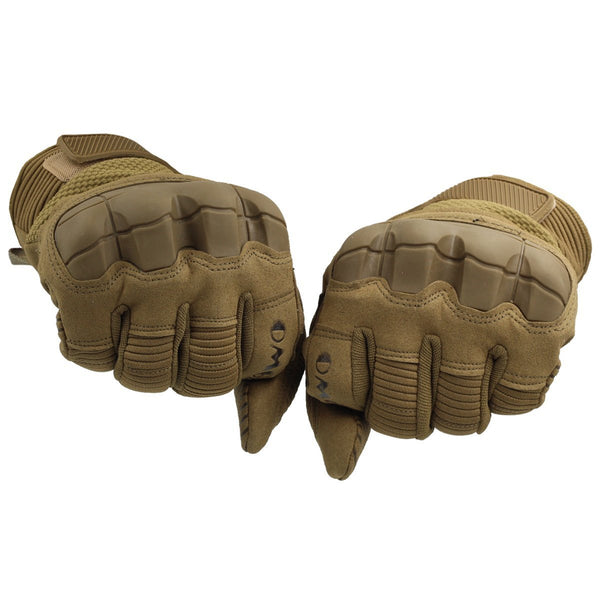 Motorcycle Gloves, Men's Full Finger Protective Gloves for Riding Cycling Off Road Climbing Outdoor Sports Brown, OMGAI
