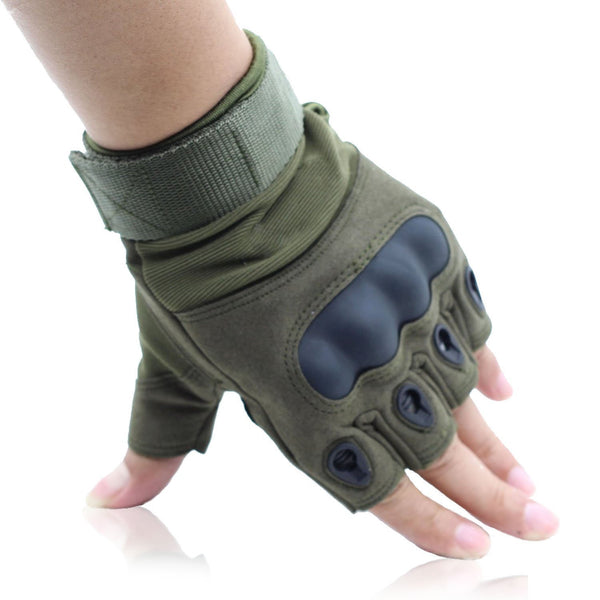 Special Half Finger Gloves for Motorcycle Hiking Outdoor Sports Green,OMGAI