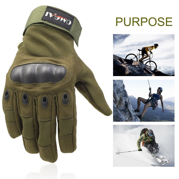 Special Full Finger Gloves for Motorcycle Hiking Outdoor Sports, OMGAI
