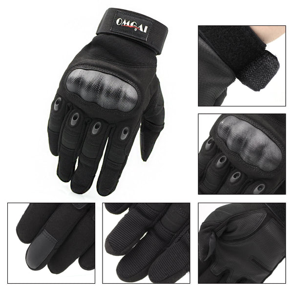 Upgraded Men's Full Finger Tech Touch Gloves for Motorcycle Climbing hiking Outdoor Sports Smart Gloves, OMGAI