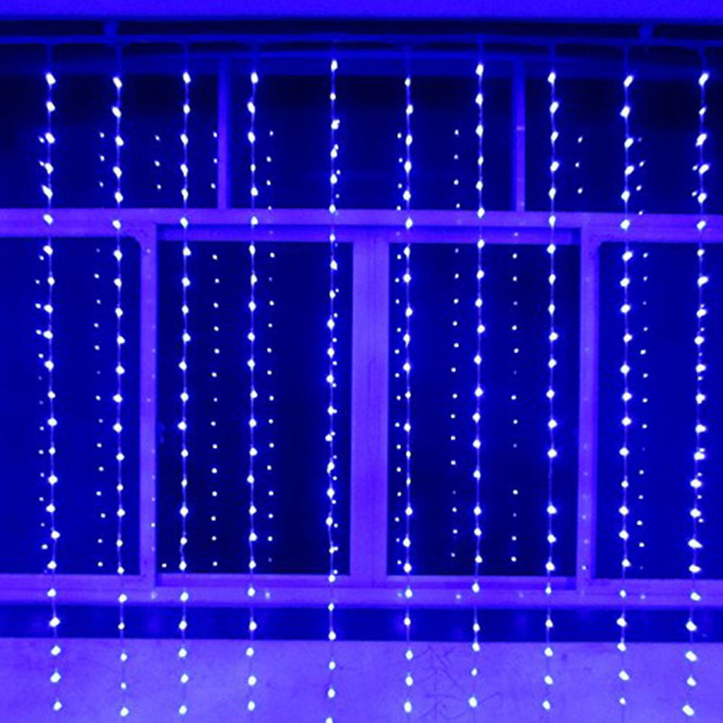 Window Curtain Icicle String Lights 300led For Christmas