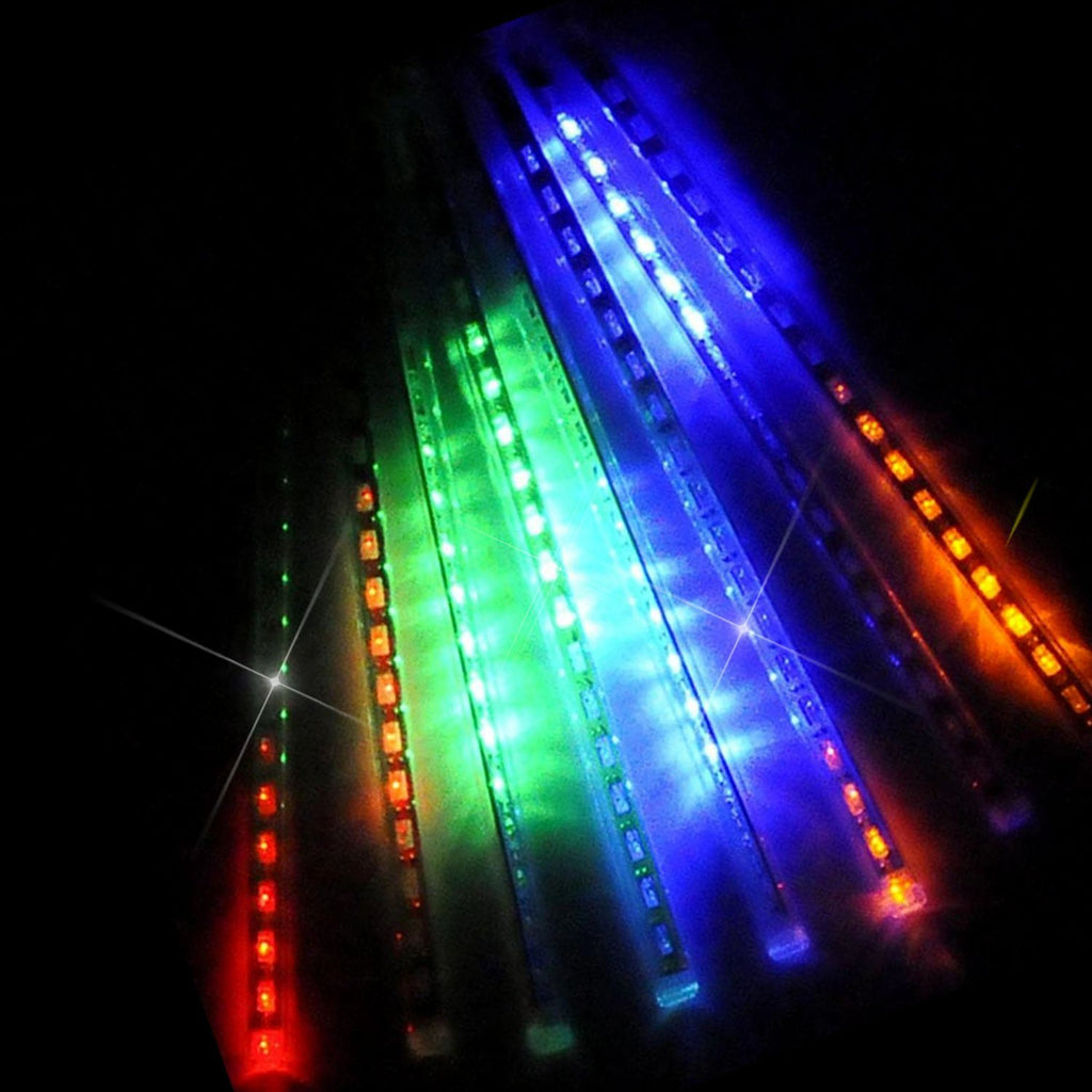 upgraded 30cm 8 tubes 144 led meteor shower rain lights dropicicle snow falling - Raindrop Christmas Lights