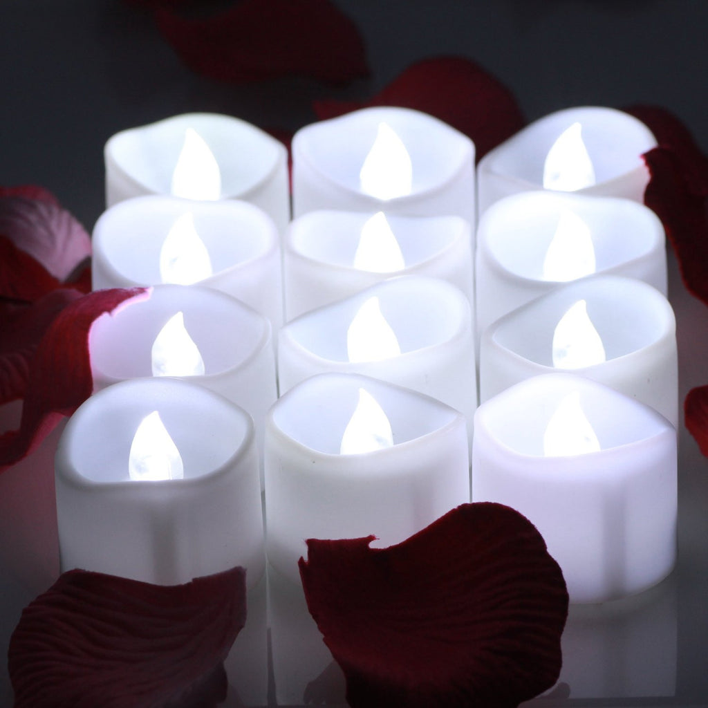 Led Tea Lights Candles With Timer Battery Operated Candle Omgai