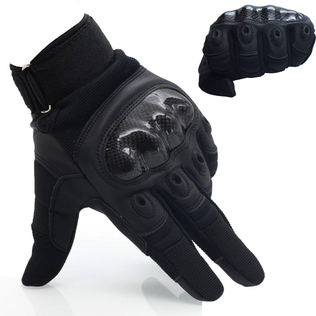 Upgraded Men's Full Finger Tech Touch Gloves  of PU Leather for Motorcycle Climbing hiking Outdoor Sports Smart Gloves, OMGAI