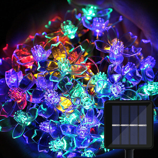 Solar LED String Lights, OMGAI 33Ft 100 LED Cherry Blossom Lights for Christmas Decoration Holiday Patio Garden Wedding New Year (Multi-Color)
