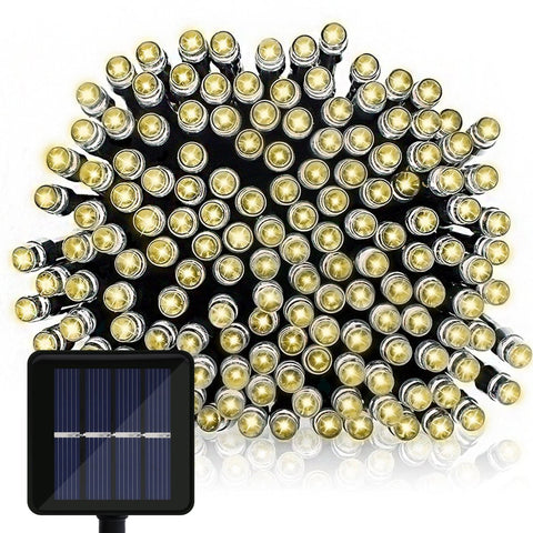 Solar String Lights, 39Ft 100 LED Waterproof Fairy Decorative Lights for Garden Home Outdoor Christmas Decoration, Warm White