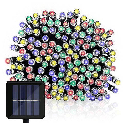 Solar Powered LED String Lights, OMGAI 39Ft 100 LEDs Solar Starry Lights for Holiday and Wedding Decorations, Multi-Color