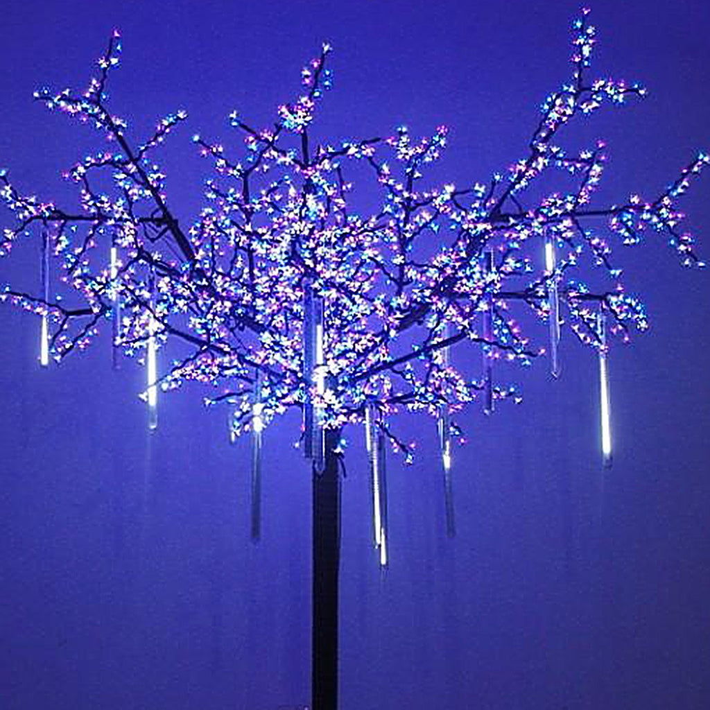 upgraded led meteor shower rain lightsdropicicle snow falling raindrop 30cm 8 tubes