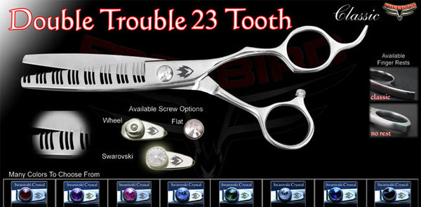 23 Tooth Double Trouble Texturizing Shears