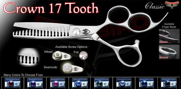 3 Hole 17 Tooth Crown Texturizing Shears