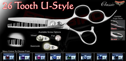 3 Hole 26 Tooth U Style Texturizing Shears