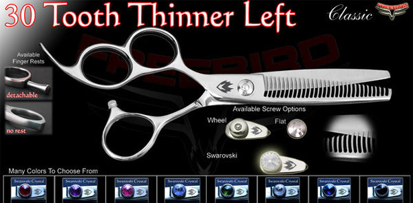 3 Hole 30 Tooth Left Handed Thinning Shears