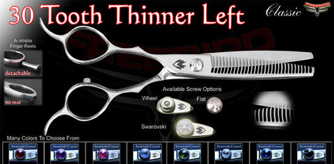 30 Tooth Left Handed Thinning Shears Straight