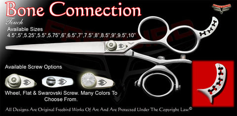 Bone Connection 3 Hole Double V Swivel Touch Grooming Shears
