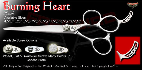 Burning Heart 3 Hole Touch Grooming Shears