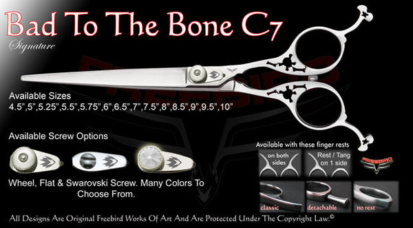 Bad To The Bone C7 Straight Signature Grooming Shears