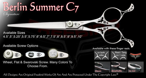 Berlin Summer C7 Straight Signature Grooming Shears