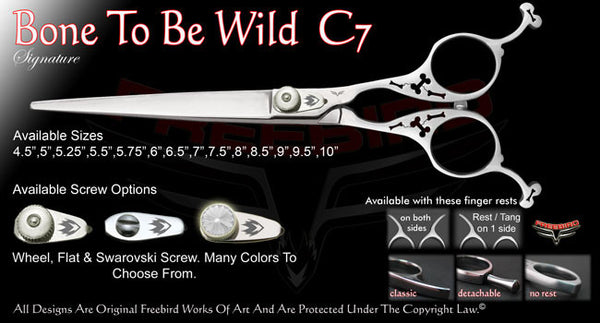 Bone To Be Wild C7 Straight Signature Grooming Shears