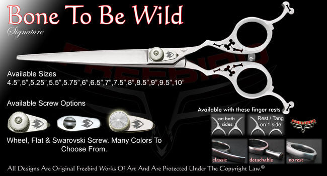 Bone To Be Wild Straight Signature Grooming Shears