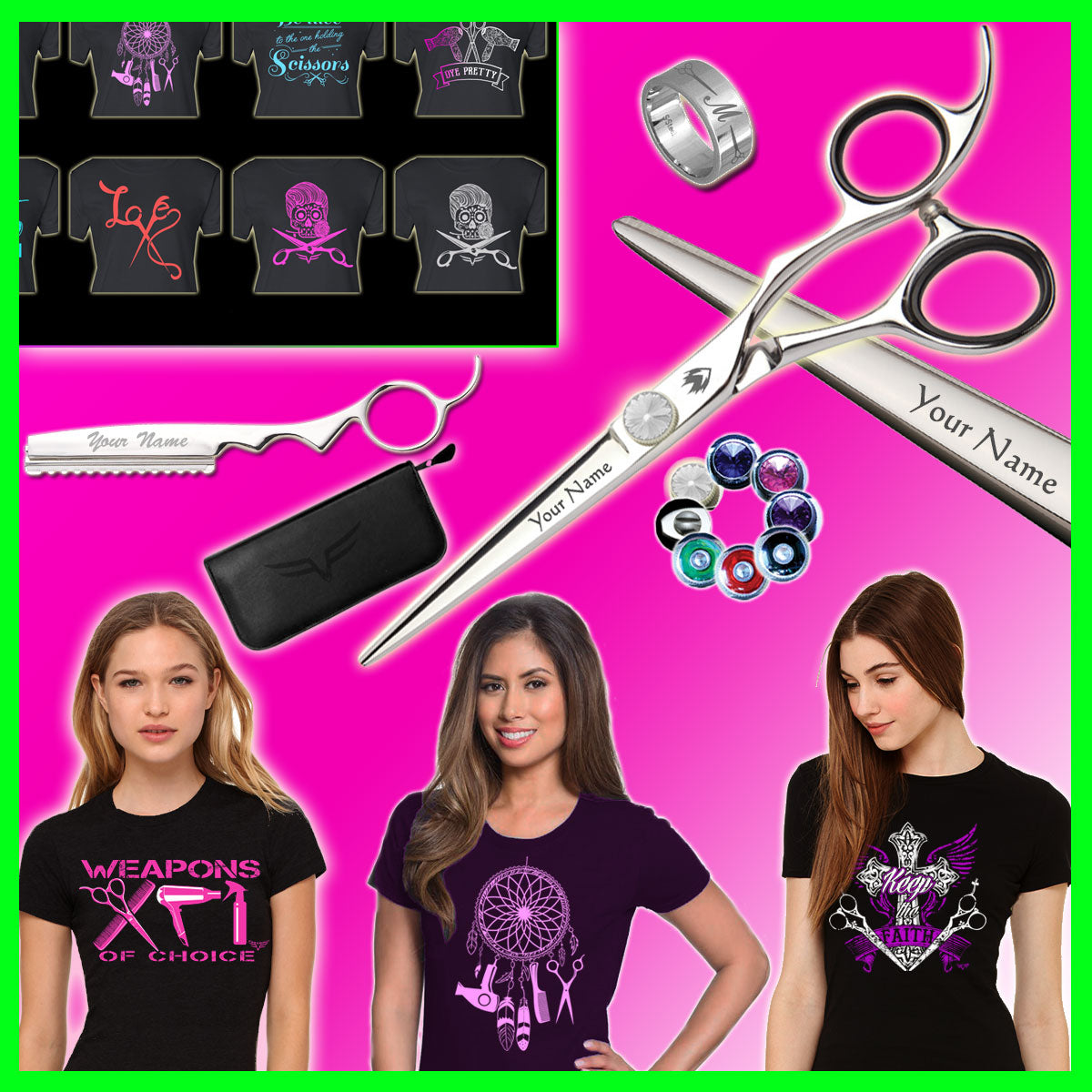 Freebird All Star For Stylists + Leather Case. Built Your Own Custom Shear Set For $89.00. While Supply Lasts.