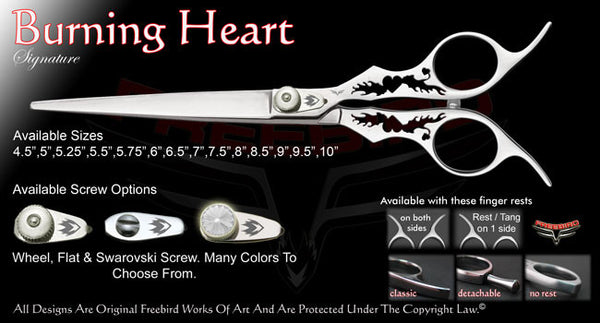 Burning Heart Straight Signature Grooming Shears