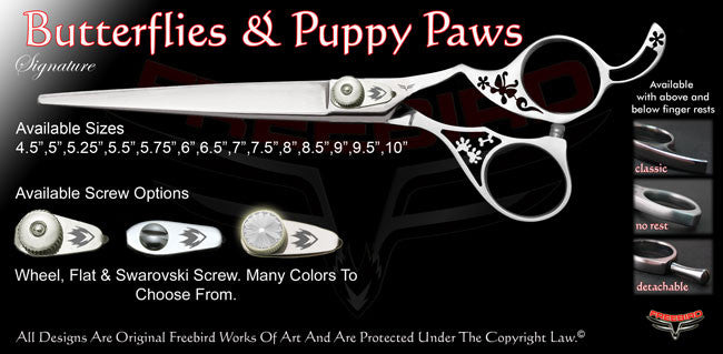 Butterflies & Puppy Paws Signature Grooming Shears
