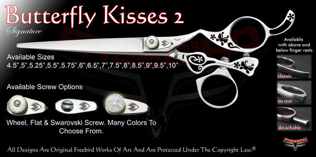 Butterfly Kisses 2 Swivel Thumb Signature Grooming Shears