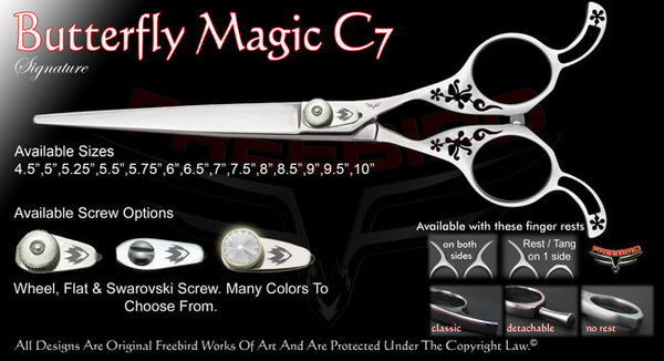 Butterfly Magic C7 Straight Signature Grooming Shears