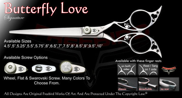Butterfly Love Straight Signature Grooming Shears