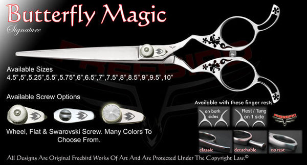 Butterfly Magic Straight Signature Grooming Shears