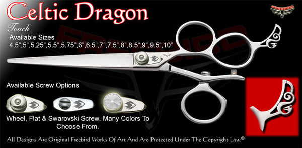 Celtic Dragon 3 Hole V Swivel Touch Grooming Shears